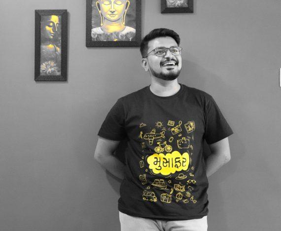 Kandarp Patel in Black Tshirt