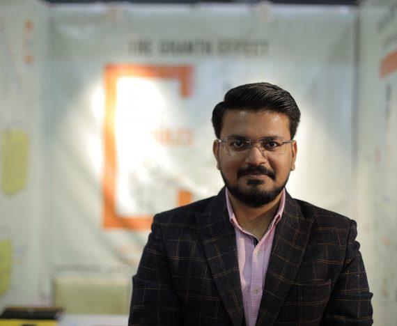 Kandarp Patel at Granth Stall