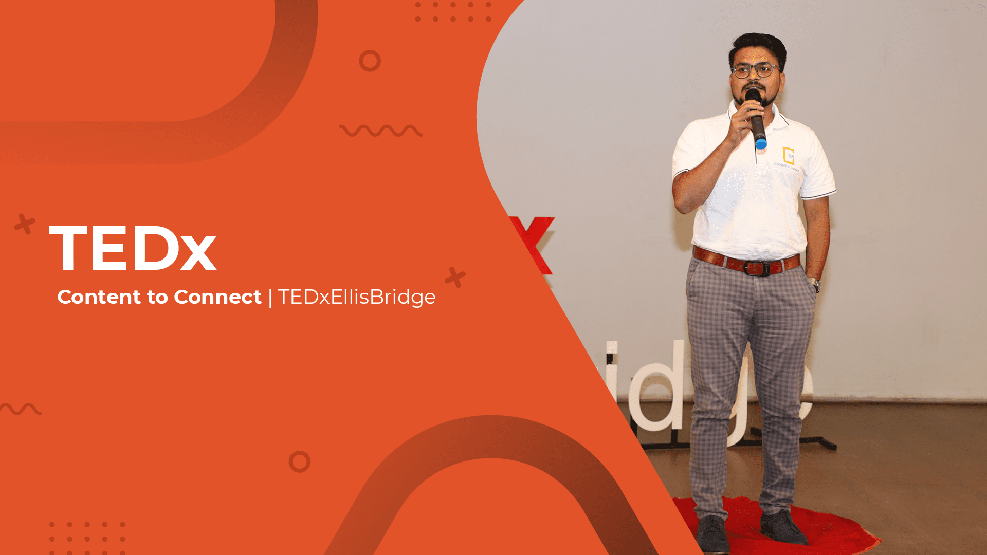 Kandarp Contentman Speaking at TEDx Ellis Bridge